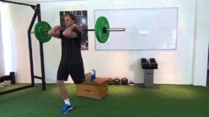 rear elevated split squat warm up