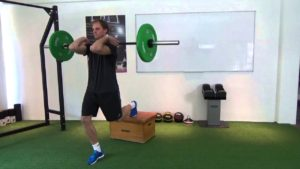 rear elevated split squat warm up